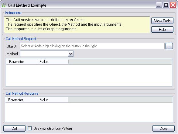 NET Based OPC UA Client/Server SDK: Call – Call Method